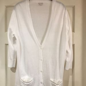 Pure white Gap cardigan.